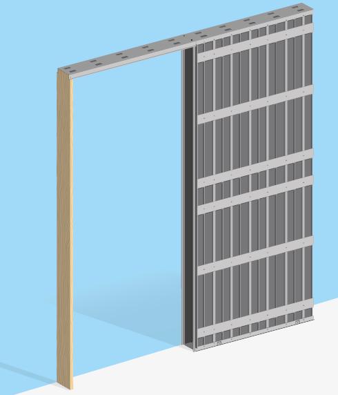 Estructuras Metalicas Para Puertas Correderas Y Forros De Madera - Puerta-corredera-metalica