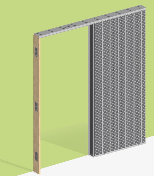 Estructuras met licas para puertas correderas y forros de - Estructuras para puertas correderas ...