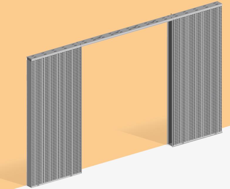 Estructuras met licas para puertas correderas y forros de madera natural ventanas de tejado - Puertas escamoteables ...
